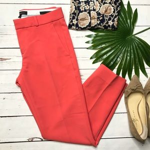{Banana Republic}sz 0 Avery fit coral crop pant